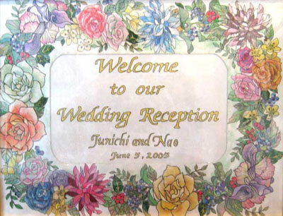 Welcome Board For Wedding Reception